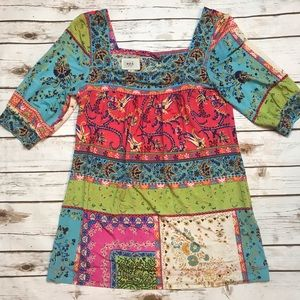 Eci New York Colorful Top Blouse